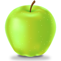 GREEN APPLE Icon(Fruits)