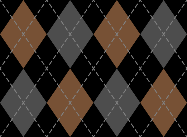 argyle_pattern_black_orange_gray