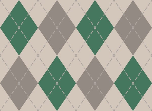argyle_pattern_white_green_gray