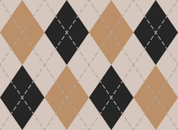 argyle_pattern_white_orange_black