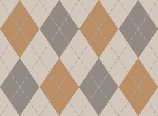 argyle_pattern_white_orange_gray