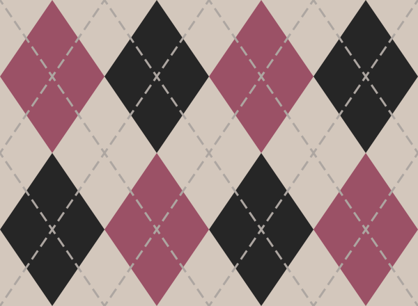 White and pink and black argyle pattern texture pattern vector data