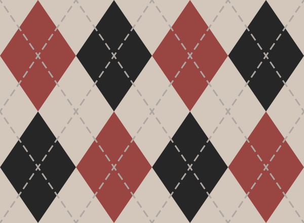 argyle_pattern_white_red_black