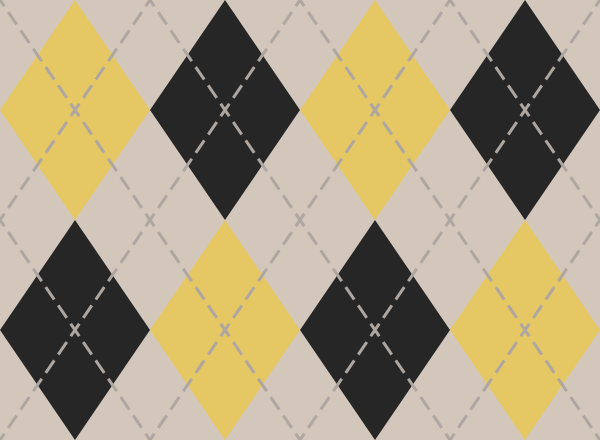 White And Yellow And Black Argyle Pattern texture pattern vector data
