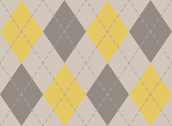 argyle_pattern_white_yellow_gray
