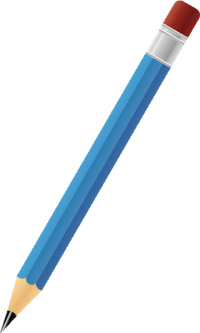 BLACK PENCIL BLUE vector icon
