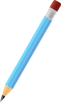 BLACK PENCIL LIGHT BLUE vector icon