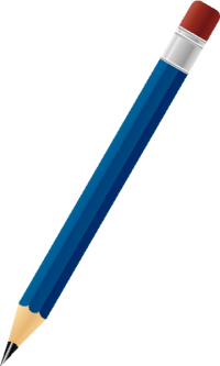 BLACK PENCIL NAVY BLUE vector icon