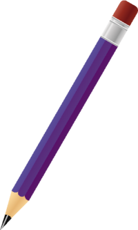 BLACK PENCIL PURPLE vector icon