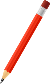 BLACK PENCIL RED vector icon