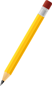 BLACK PENCIL YELLOW vector icon