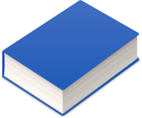 BOOK2 ICON BLUE VECTOR DATA