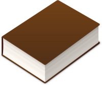 BOOK2 ICON DARK BROWN VECTOR DATA