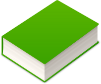 BOOK2 ICON GREEN VECTOR DATA