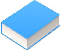 BOOK2 ICON LIGHT BLUE VECTOR DATA