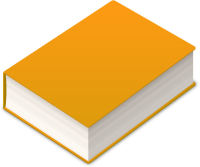 BOOK2 ICON LIGHT ORANGE VECTOR DATA