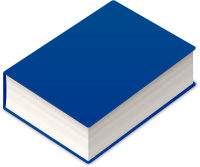 BOOK2 ICON NAVY BLUE VECTOR DATA