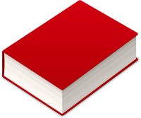 BOOK2 ICON RED VECTOR DATA