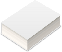 BOOK2 ICON WHITE VECTOR DATA