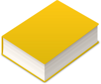 BOOK2 ICON YELLOW VECTOR DATA