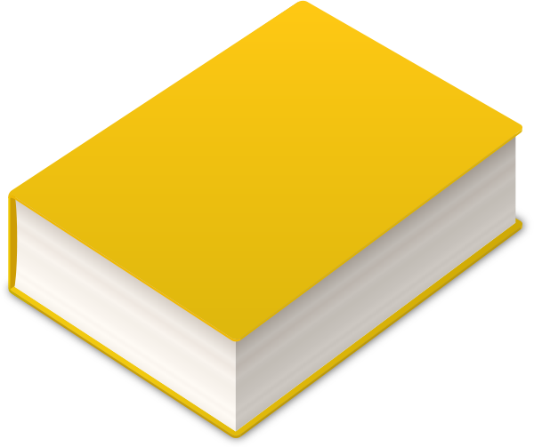 Book2 Icon Yellow Vector Data Svg Vector Public Domain