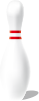 White bowling pin free vector data.