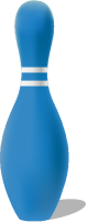 Blue bowling pin free vector data.