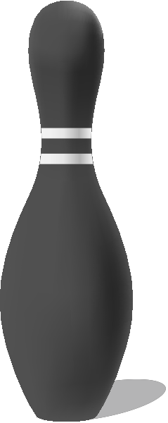 Dark gray bowling pin free vector data.