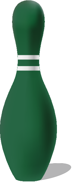 Dark green bowling pin free vector data.