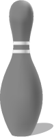 Gray bowling pin free vector data.