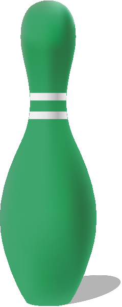 Green bowling pin free vector data.