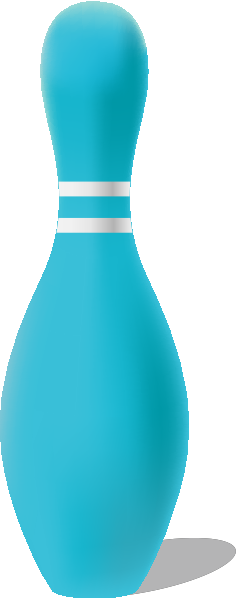 Light blue bowling pin free vector data.