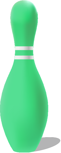 Light green bowling pin free vector data.