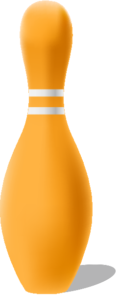 Light orange bowling pin free vector data.