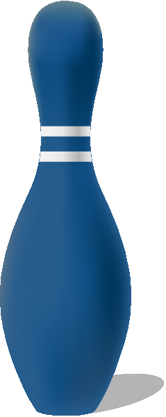 Navy blue bowling pin free vector data.