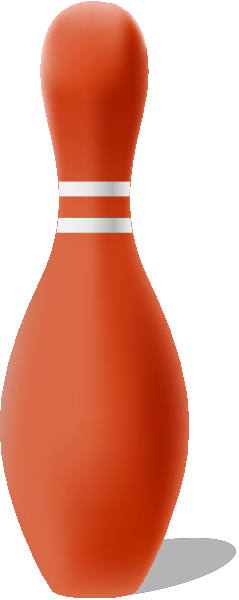 Orange bowling pin free vector data.