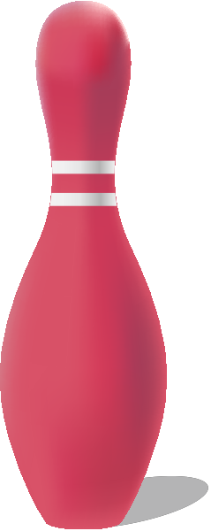 Pink bowling pin free vector data.