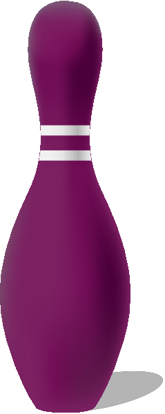 Purple bowling pin free vector data.