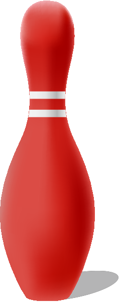 Red bowling pin free vector data.