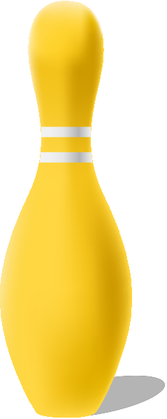 Yellow bowling pin free vector data.