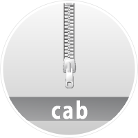 """CAB"" data compression icon Circle"