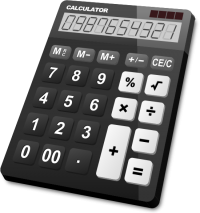 CALCULATOR BLACK vector icon