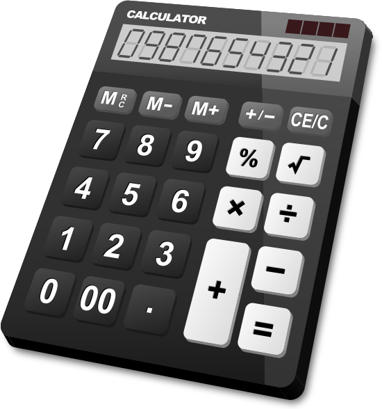 Calculator Icon Vector Png Calculator Black Vector Icon