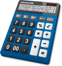 CALCULATOR BLUE vector icon