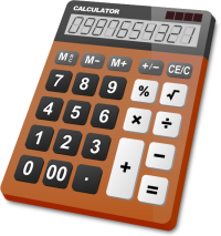 CALCULATOR BROWN vector icon