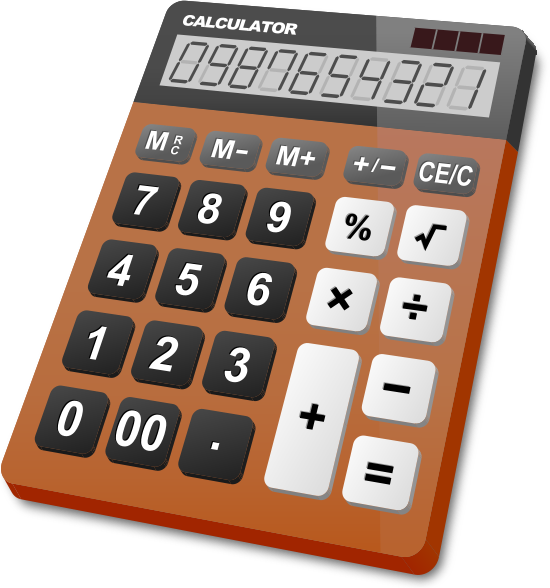 calculator_brown