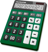 CALCULATOR DARK GREEN vector icon
