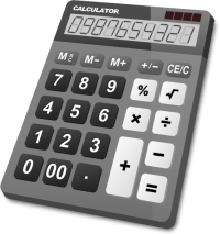 CALCULATOR GRAY vector icon