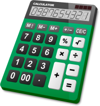 CALCULATOR GREEN vector