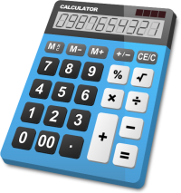 CALCULATOR LIGHT BLUE vector icon